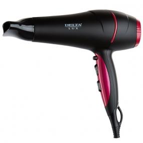Фен DELTA DL-0442 черный с розовым