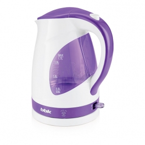 Чайник BBK EK1700P белый/фиолетовый