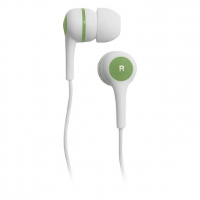 Наушники BBK EP-1260S белый/зеленый