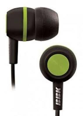 Наушники BBK EP-1230S черный/зеленый